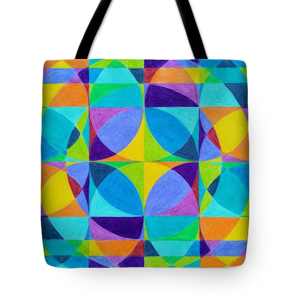 The 'cross Of Light' Effect Tote Bag