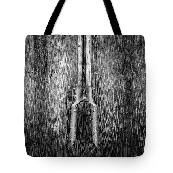 Post Hole Digger II On Plywood 73 In Bw Tote Bag