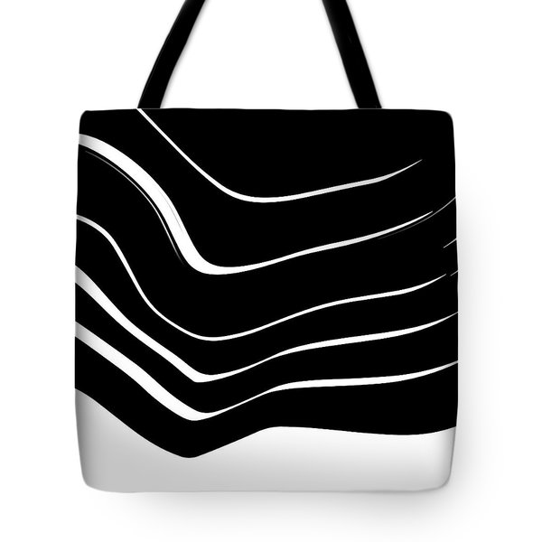 Organic No. 10 Black And White #minimalistic #design #artprints #shoppixels Tote Bag