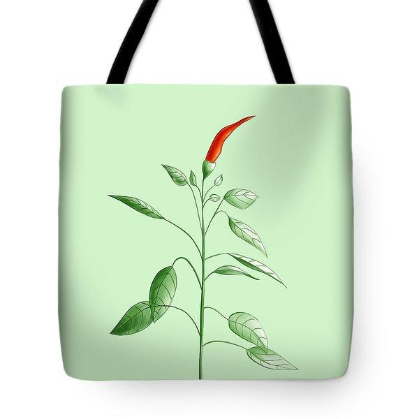 Hot Chili Pepper Plant Botanical Illustration Tote Bag