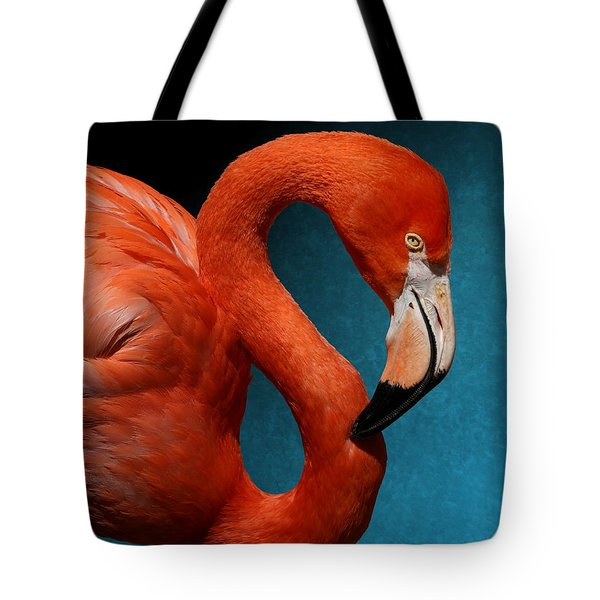 Profile Of An American Flamingo Tote Bag