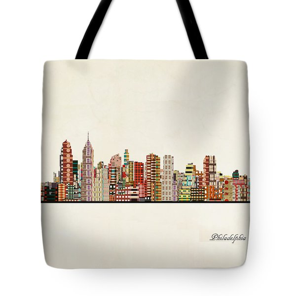 Philadelphia City Skyline Tote Bag