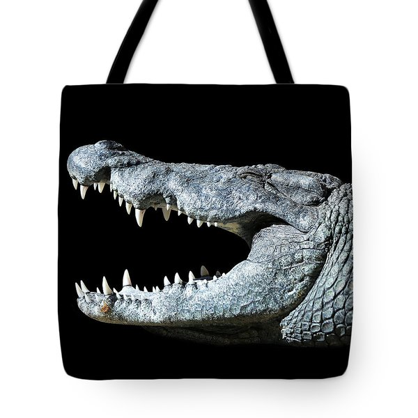 Nile Croco-smile Tote Bag