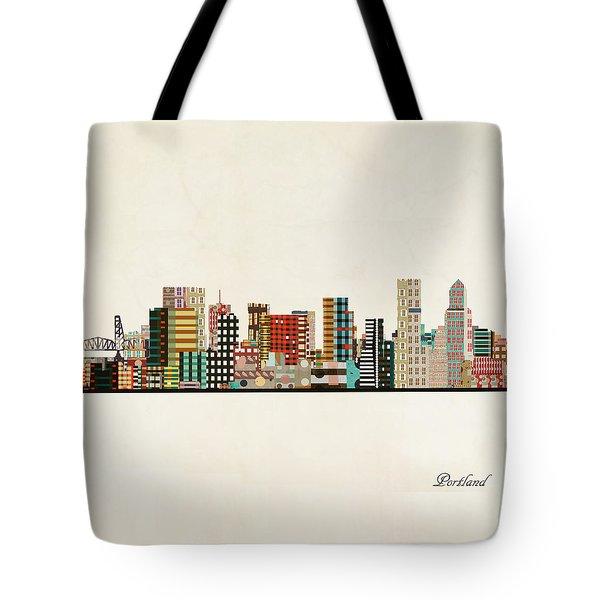 Portland Skyline Tote Bag