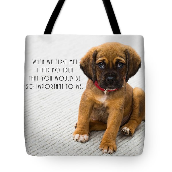 Tote Bag featuring the digital art When We First Met by Anthony Murphy