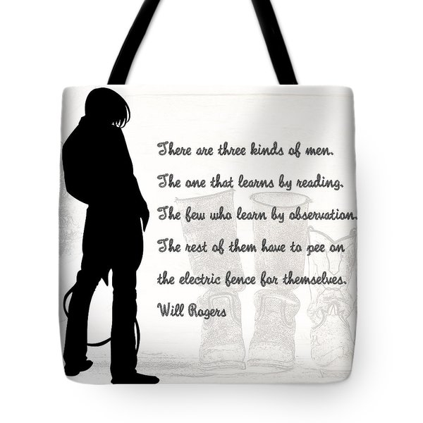 There Are Three Kinds Of Men Tote Bag