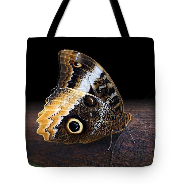 Yellow-edged Giant Owl Butterfly Tote Bag