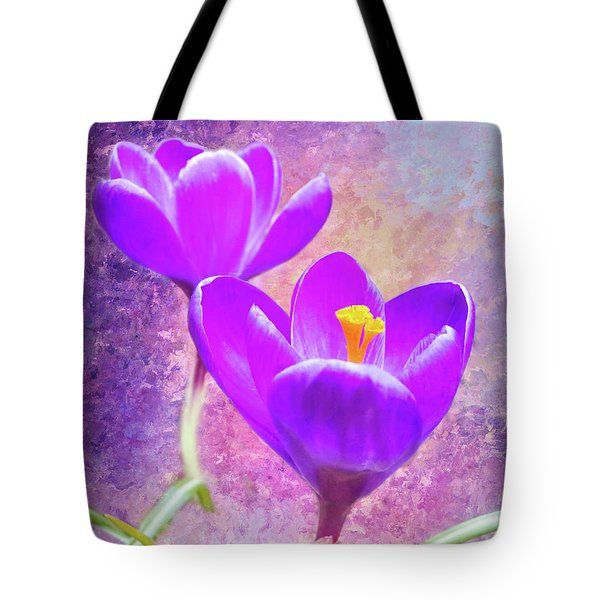 Our First Crocuses This Spring Tote Bag