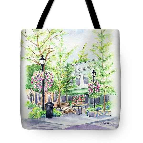 Across The Plaza Tote Bag