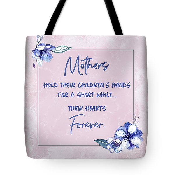 Mothers And Their Children Tote Bag