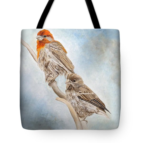 House Finch Couple Tote Bag