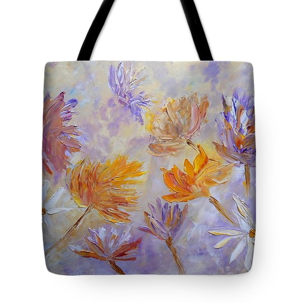 Purple Blaze Tote Bag