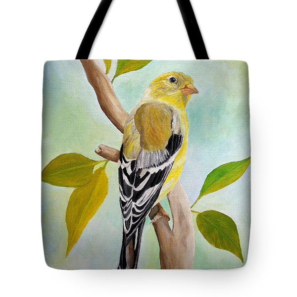 Pretty American Goldfinch Tote Bag