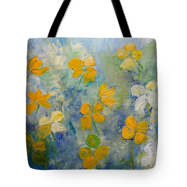 Blossoms In Breeze Tote Bag