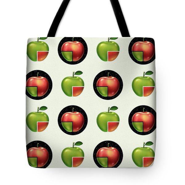 Divided Apple Pattern Tote Bag
