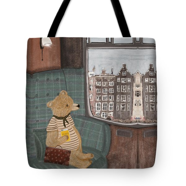 A New Adventure For Bear  Tote Bag