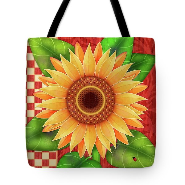 Country Sunflower Tote Bag