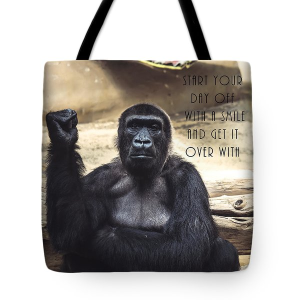 Tote Bag featuring the digital art Start Your Day Off With A Smile by Anthony Murphy