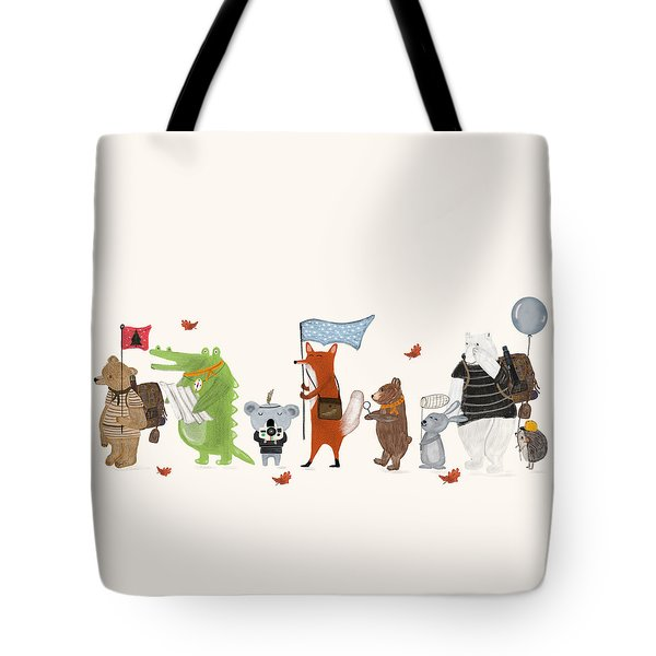 Lets All Go Exploring Tote Bag