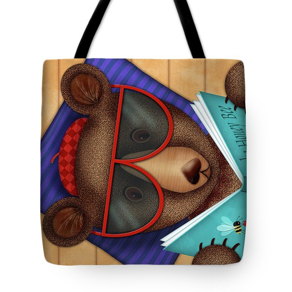 B Is For Brown Bear Tote Bag