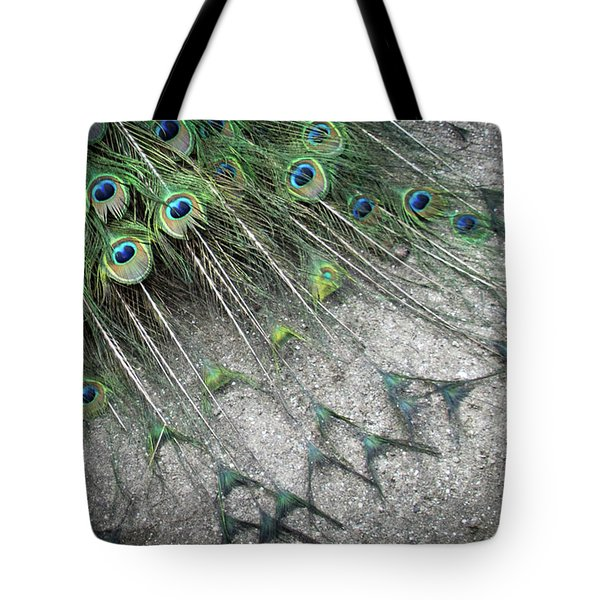 Poised Peacock Tote Bag