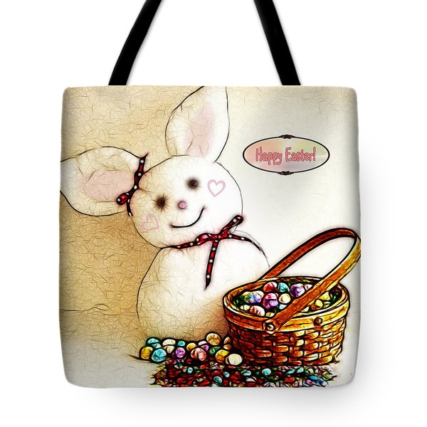 Bunny N Eggs Card Tote Bag by Methune Hively