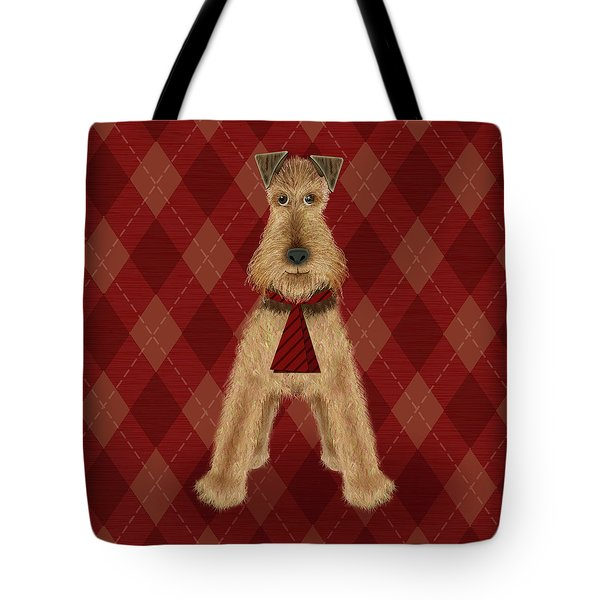 A Is  For Airedale Tote Bag