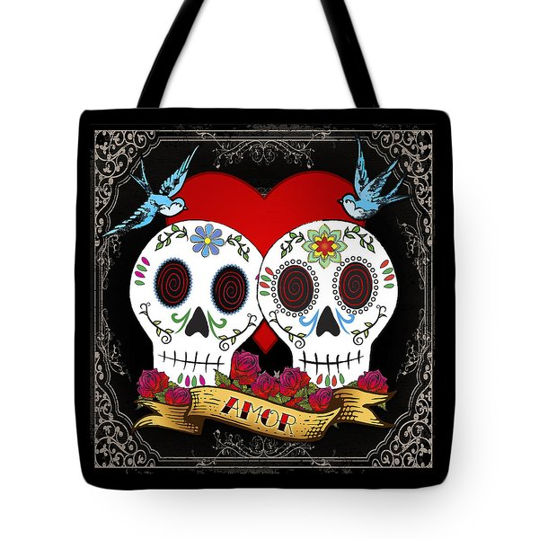 Love Skulls II Tote Bag