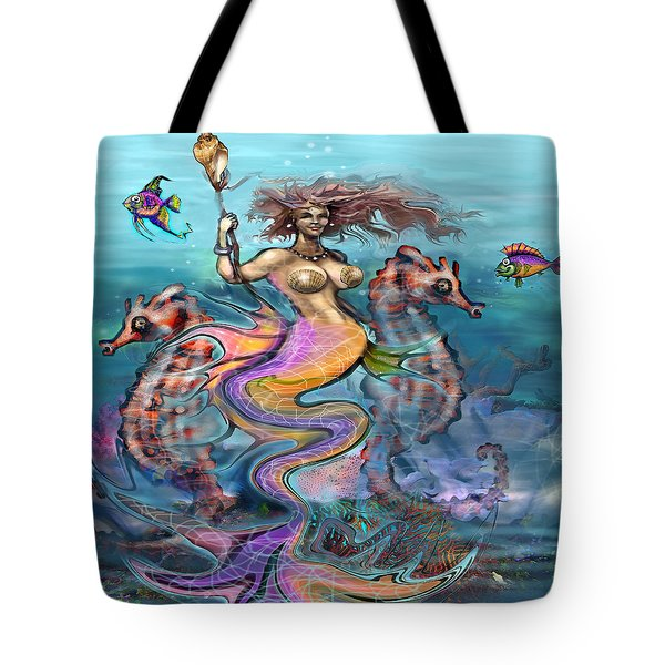 Mermaid Tote Bag by Kevin Middleton