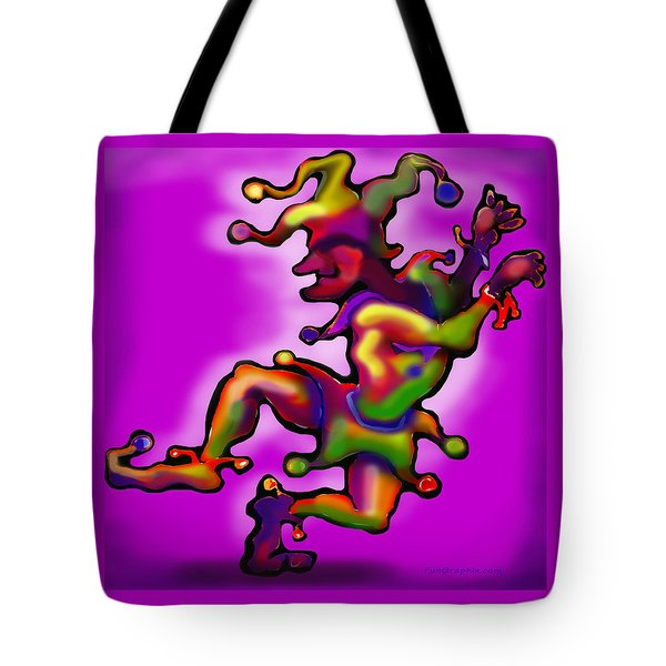 Mardi Gras Jester Tote Bag by Kevin Middleton