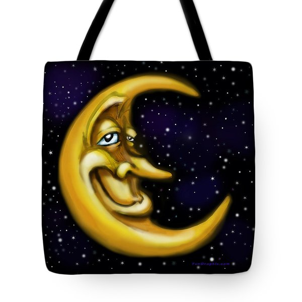 Moon Tote Bag by Kevin Middleton