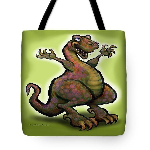 Tote Bag featuring the digital art Tyrannosaurus Rex by Kevin Middleton