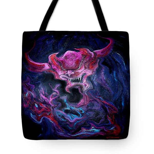 Demon Fire Tote Bag by Kevin Middleton