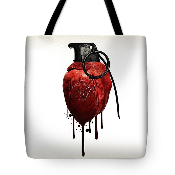Heart Grenade Tote Bag