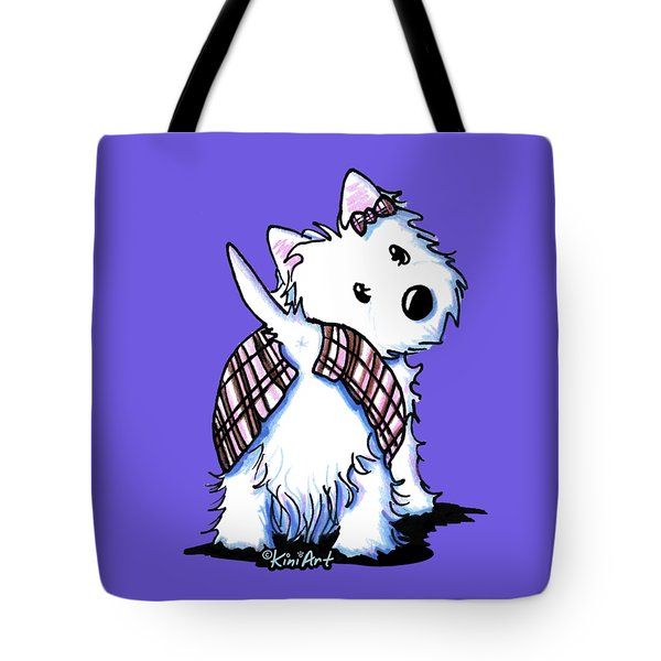 Dressed To Kilt Westie Tote Bag