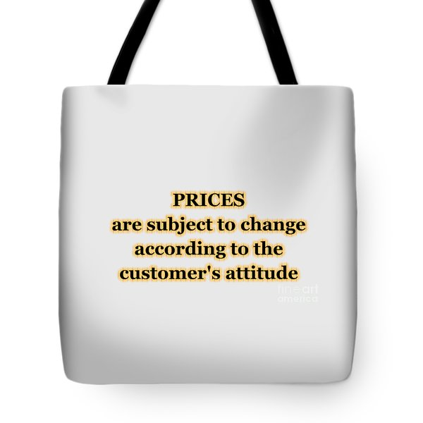 Store Sign Tote Bag by Anastasiya Malakhova