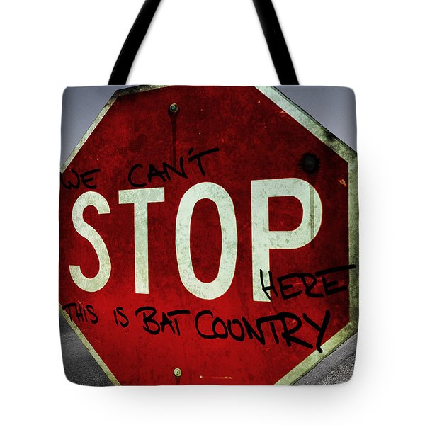 This Is Bat Country Tote Bag by Nicklas Gustafsson
