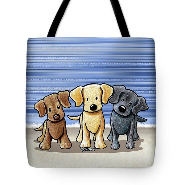 Labrador Beach Trio Tote Bag