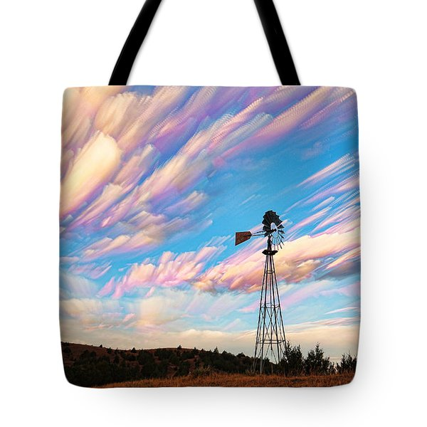 Crazy Wild Windmill Tote Bag by Bill Kesler