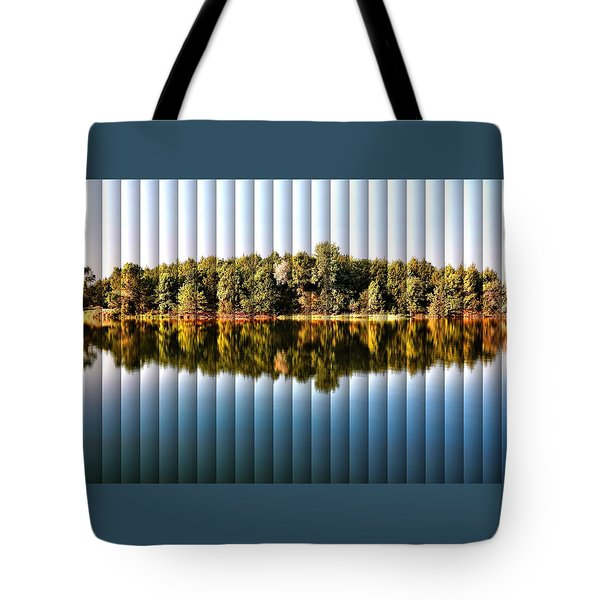 When Nature Reflects - The Slat Collection Tote Bag by Bill Kesler