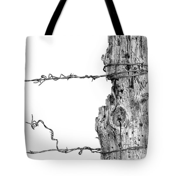 Post With Character Tote Bag by Bill Kesler
