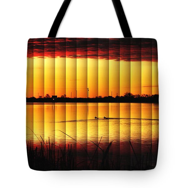 Magnificent Sunrise Swim Tote Bag by Bill Kesler
