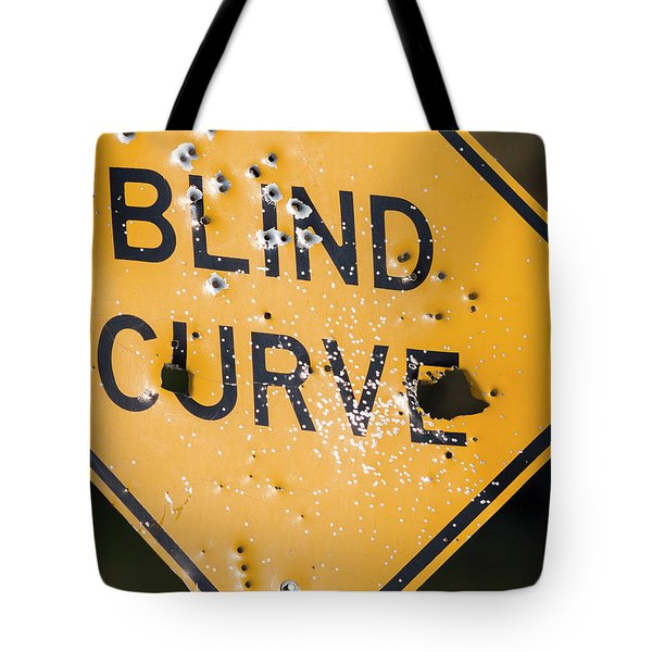 Blind Curve Tote Bag by Bill Kesler