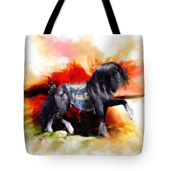 Kachina Hopi Spirit Horse  Tote Bag