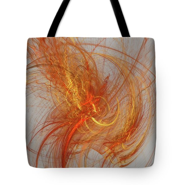 Tote Bag featuring the digital art Medusa Bad Hair Day - Fractal by Menega Sabidussi