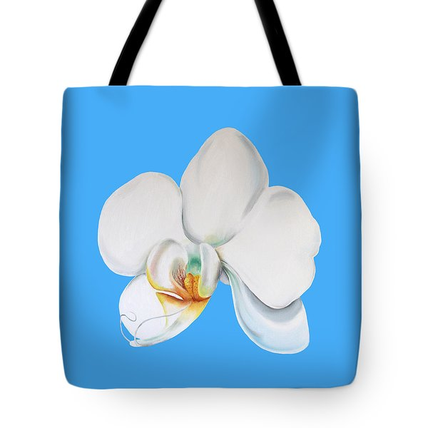 Tote Bag featuring the painting White Orchid by Elizabeth Lock