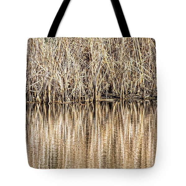 Golden Reed Reflection Tote Bag by Bill Kesler