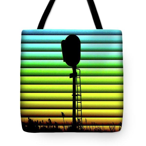 Signal At Dusk Tote Bag