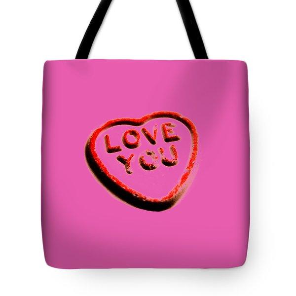 Love You Tote Bag by Mark Rogan