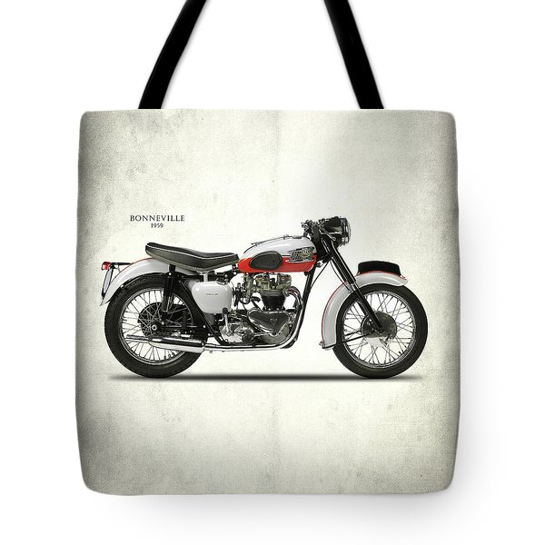 Triumph Bonneville 1959 Tote Bag by Mark Rogan